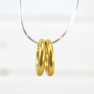 GOLD HOOP EARRINGS #126-52